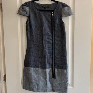 Cynthia Steffe Linen Chambray Shift Dress sz. 0